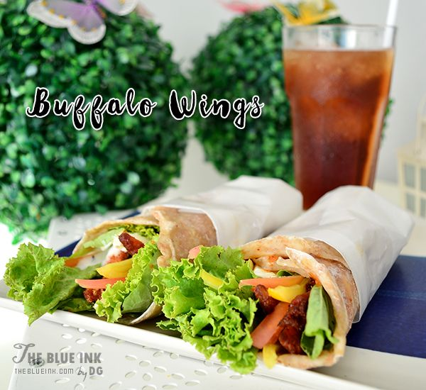 Buffalo Wings Chicken Wrap - Yummy Cupcakes and Sandwiches at Bacolod Cupcake Cafe, Inc.