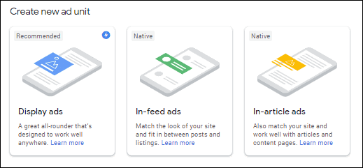 Adsense ads set up