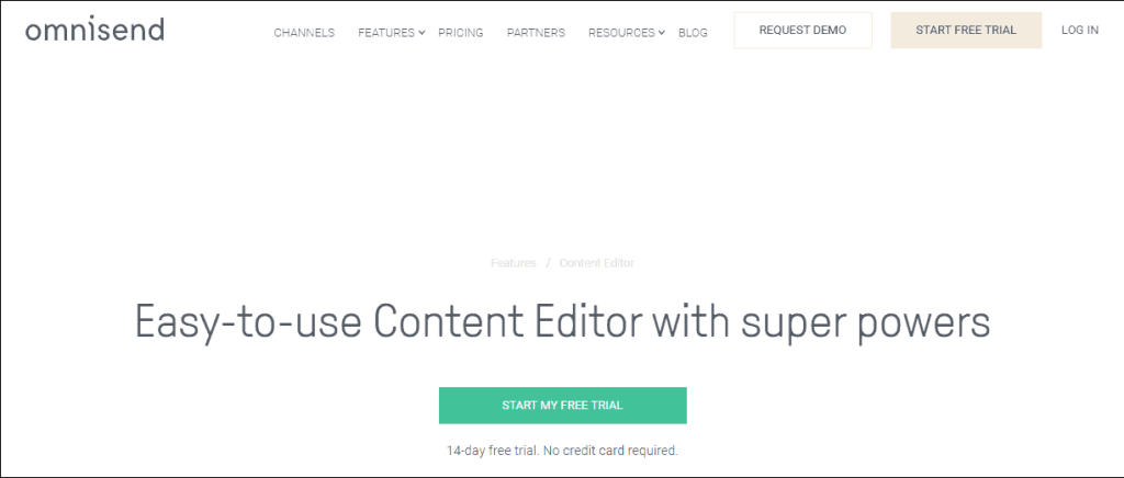 Omnisend- Content Editor Email Marketing  Tool