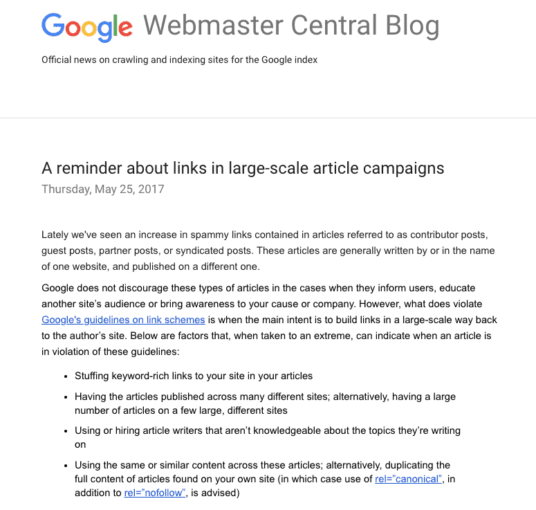 Google webmaster Guidelines 2021: Off Page SEO checklist