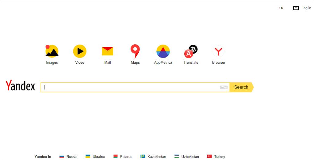 Yandex Search Engine- 1% Global Market Share