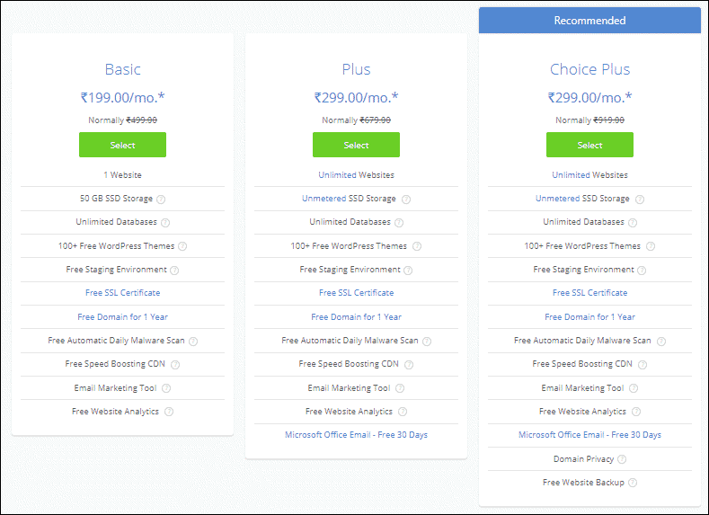 Bluehost wordpress hosting pricing - %title%- The Blue Oceans Group