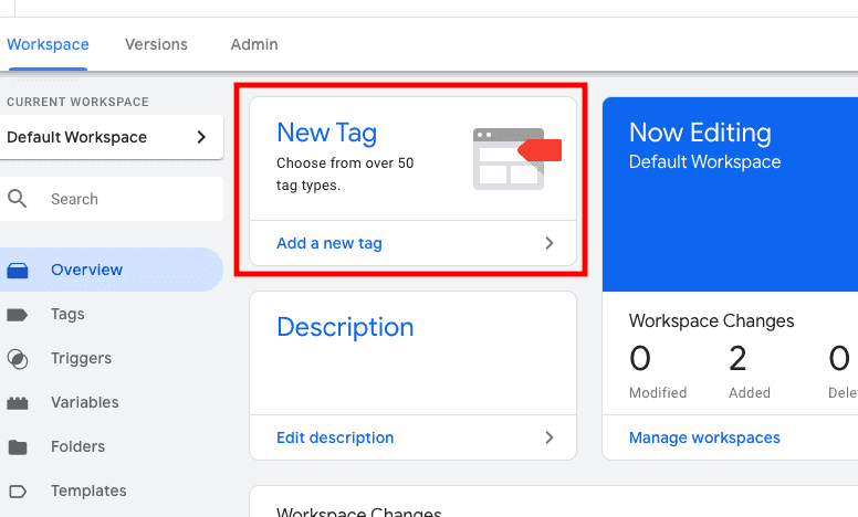 Creation of New Tag in Google Tag Manager for Setting up Link Click Event