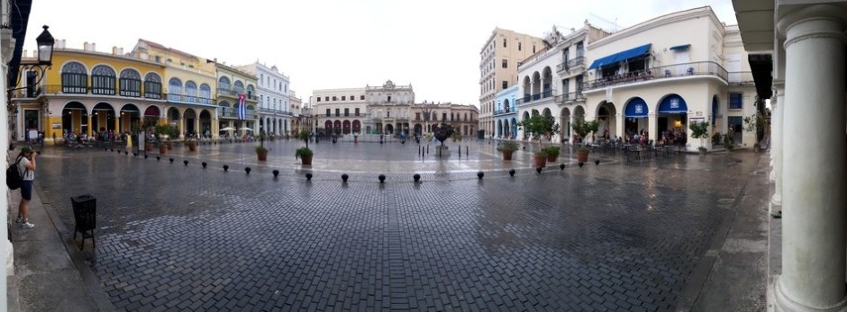 Cropped Opgeknapt oude plein