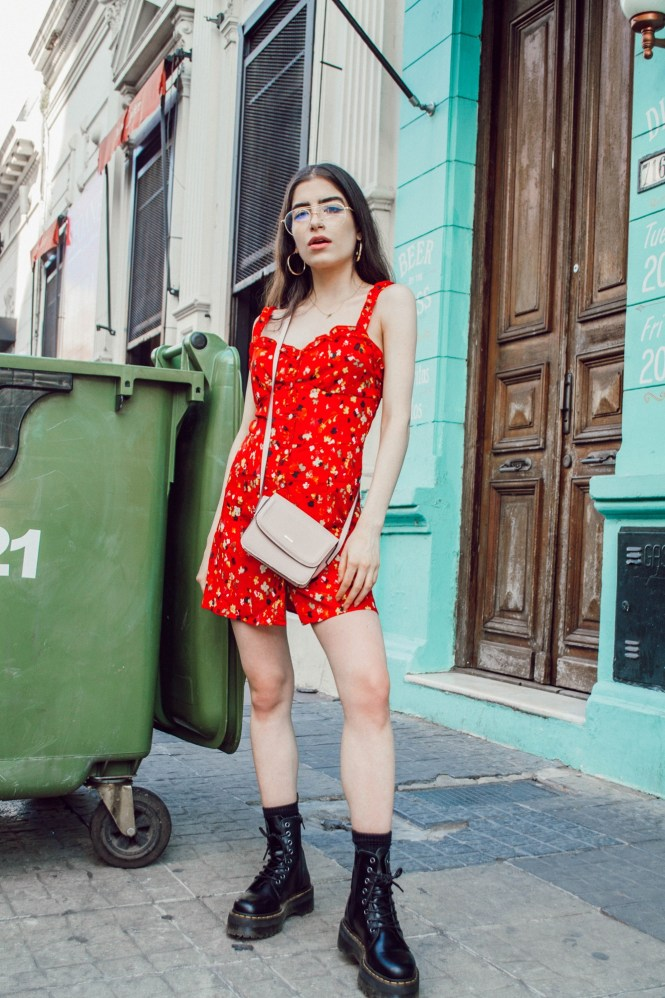 dress with dr. martens, dr. martens with a dress, how to wear dr. matens, spring style, theblueyedgal, the blue eyed gal
