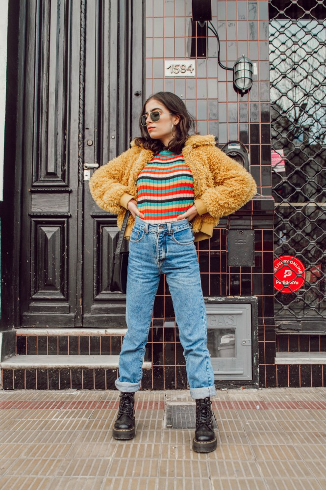 Colorful winter outfit, theblueyedgal, 90s style