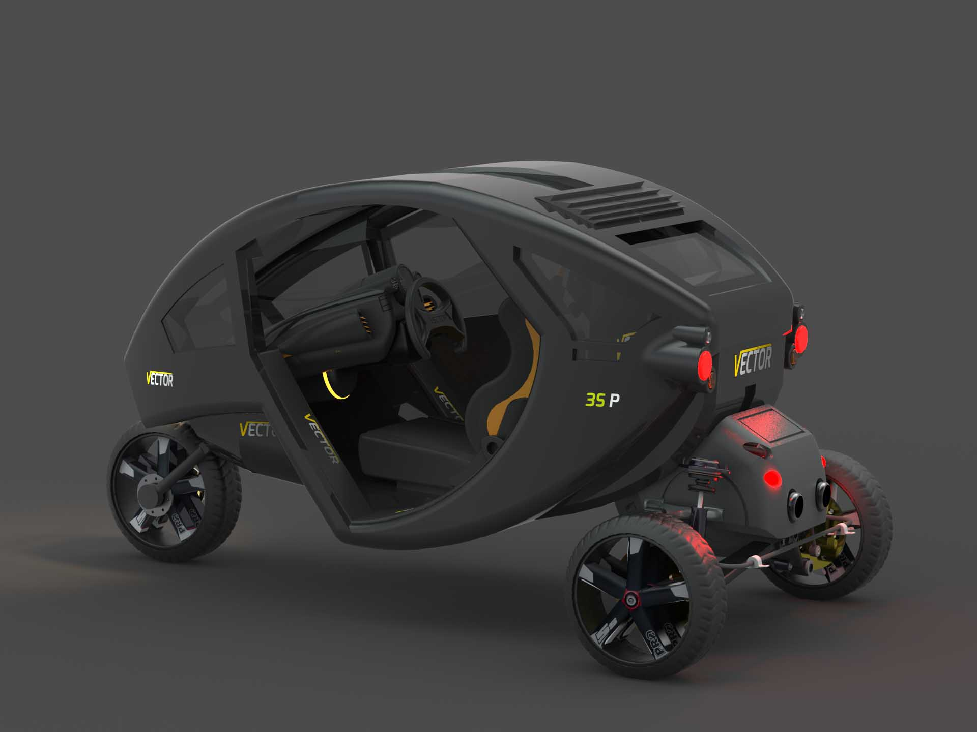 Vector Automobile designed by BMK