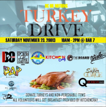 DC or Nothing Turkey Drive for TheBobbyPen.com