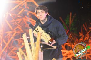Music Producer and DJ, Porter Robinson, accepting the 2015 MTV Woodie for Artist of the Year.