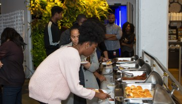 "Guests Enjoy Light Fare At Google New York ""A Seat at the Table: Inclusion and Innovation in Technology & Society""Photo by Bernard Smalls"