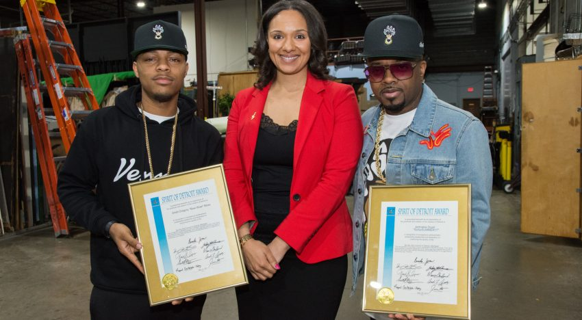 Jermaine Dupri & Bow Wow Receive The Spirit Of Detroit Award [VIDEO]