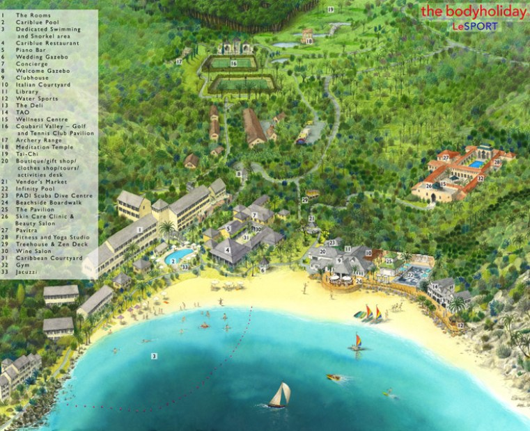 st. lucia resort map
