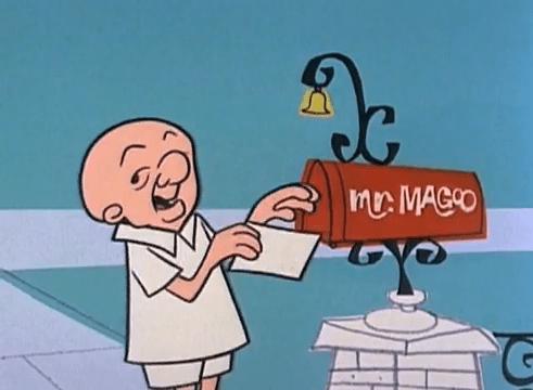 Magoo at Mailbox