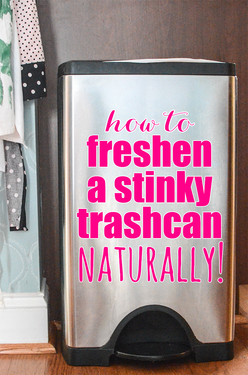 Stop using stinky bags and sprays to get rid of that trashy smell! Here is how to freshen a stinky trashcan... naturally! It's so quick and easy to do!