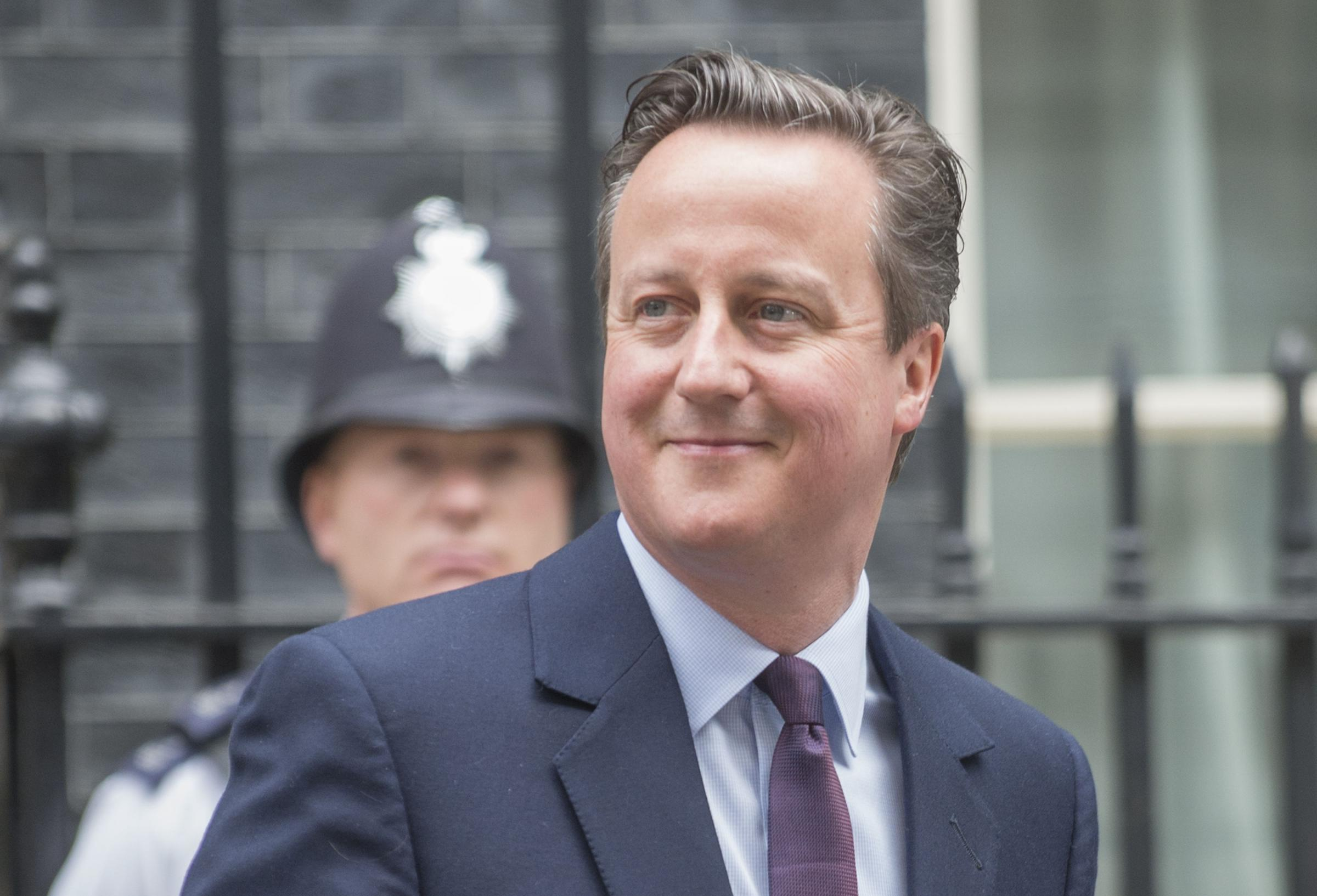David Cameron is jubilant as he returns to No 10 as prime minister and head of a majority Conservative government