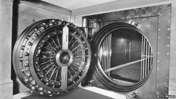 "The vault in Midlands Bank used in ""Goldfinger"""