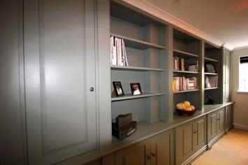 Bespoke bookcase study in Wandsworth