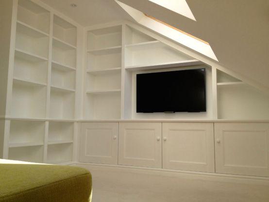 Bespoke shelving unit in Wimbledon loft conversion