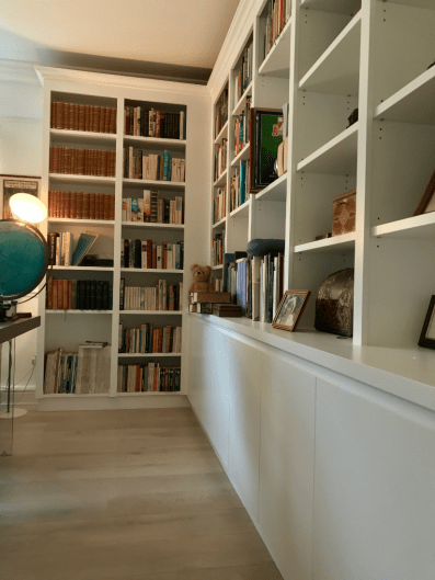 Custom Made Bookcases with cupboards below