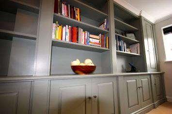 Custom made library:study in Farrow & Ball finish in Wandsworth