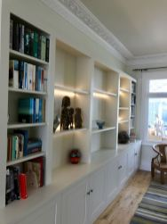 wall to wall book shelving