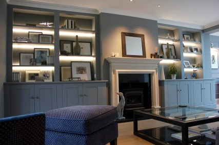 Luxury Alcove Units with LED lighting in South West London
