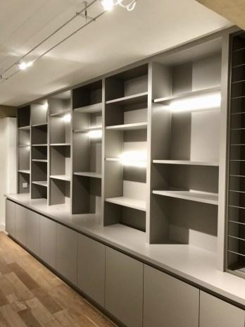 Custom made modern bookcase