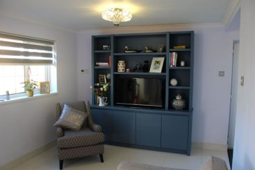 Media Bookcase with cupboards below