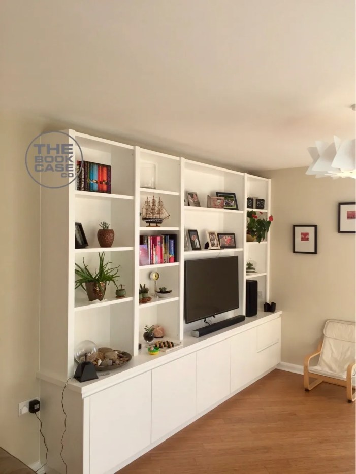 Modern Media Bookcase Unit