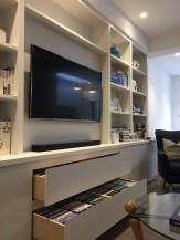 Media Unit with Drawer Storage