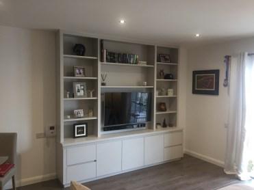 Modern styled TV storage unit
