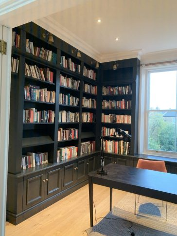 Corner Bookcase Library