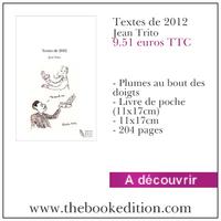 Le livre Textes de 2012