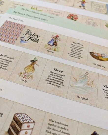 My Fairy Library Sheets