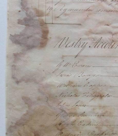 Repair to damaged folios
