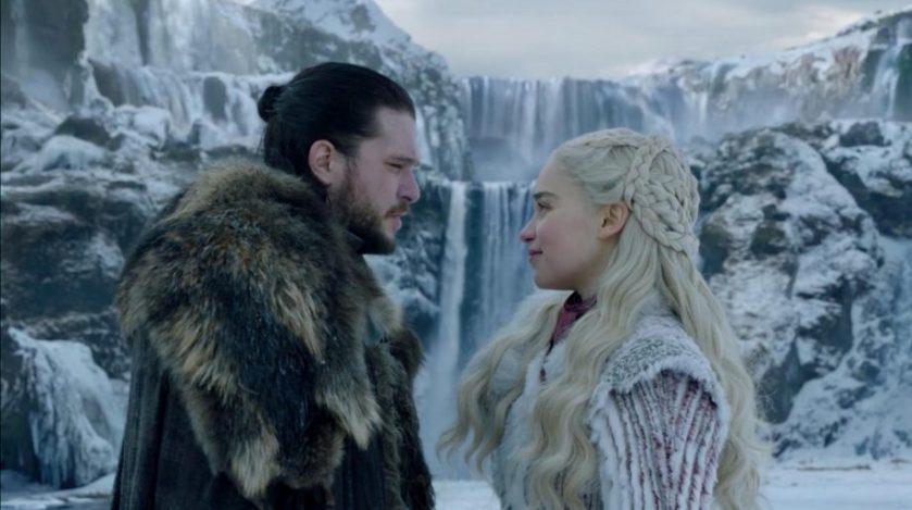 il trono di spade 8x1 Jon e Daenerys