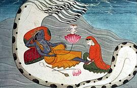 270px-Vishnu_and_Lakshmi_on_Shesha_Naga,_ca_1870