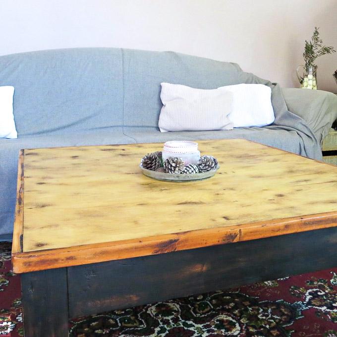 diy refurbished wood coffee table the