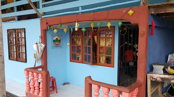 A house belonging to one of the homestay programme participants.