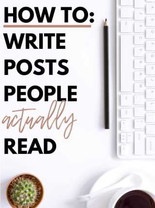 If you want to know how to write a blog post that people will actually read, keep reading this post! I break it down in just a few steps! #howtostartablog #bloggingforbeginners #Blogtips