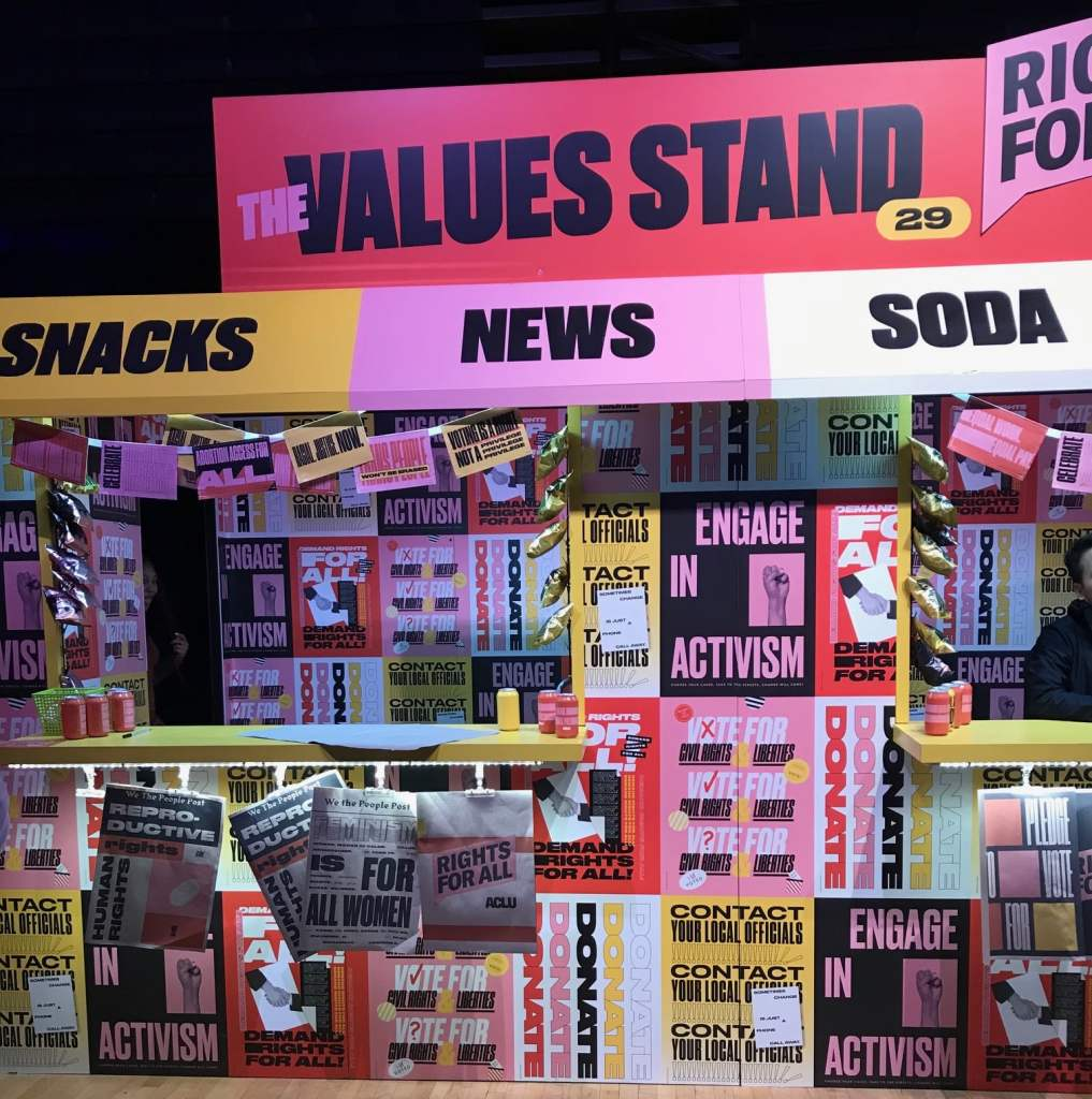 29Rooms review Values Stand