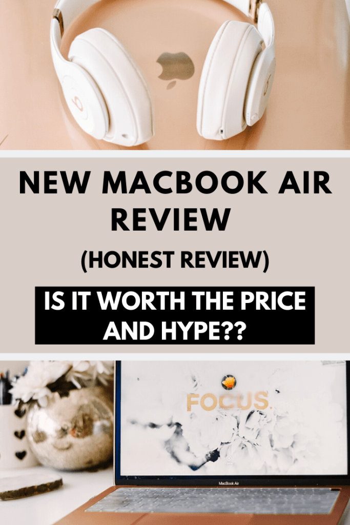 Is the New Macbook Air worth the price? Here is a full review of the New Macbook Air giving a list of pros and cons on this laptop! #macbook #apple