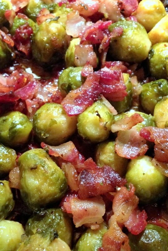 Oven Roasted Brussels Sprouts With Bacon The Bossy