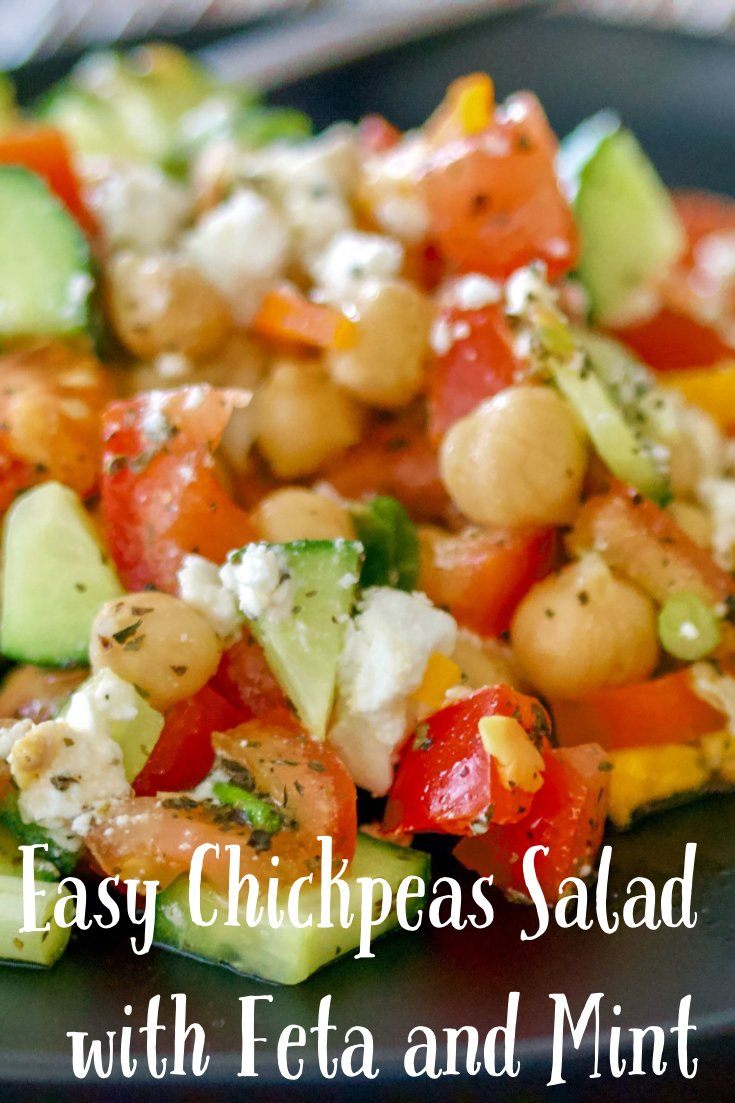 Easy Chickpea Salad With Feta & Mint
