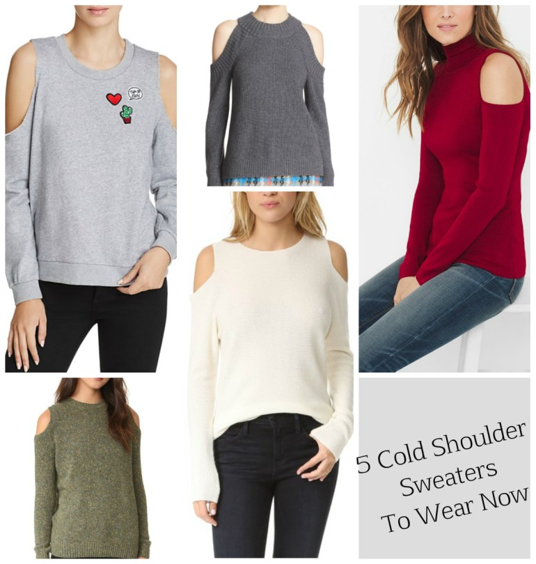 My 5 favorite cold shoulder sweaters to wear now and later!