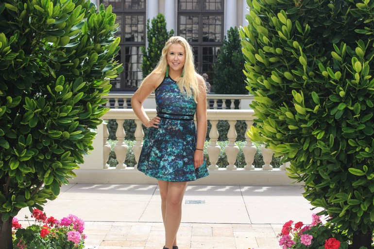 5 Reasons to stay at the Breakers Parker fit and flare dress, style blogger in florida
