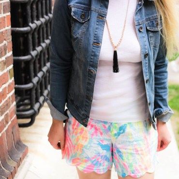 How I Wear Lilly Pulitzer's Scallop Hem Shorts!