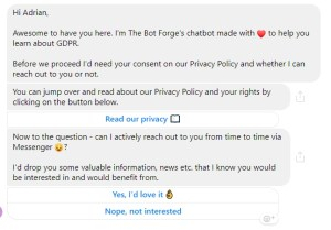 Chatbot Privacy Consent