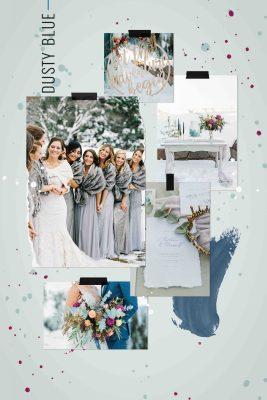 dusty blue wedding theme