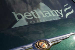 Bethany Funeral Home Hearse Signage